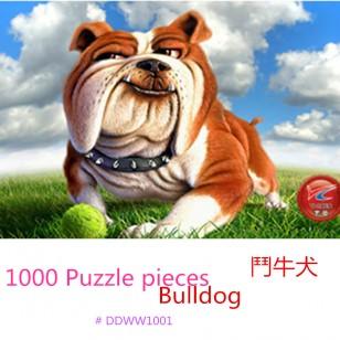1000片木質拼圖   # 鬥牛犬