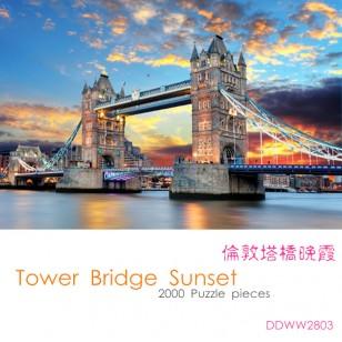1000片木質拼圖 - # DDWW2803 倫敦塔橋晚霞